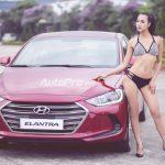 Nga Tây khoe dáng sexy cùng Hyundai Elantra 2016