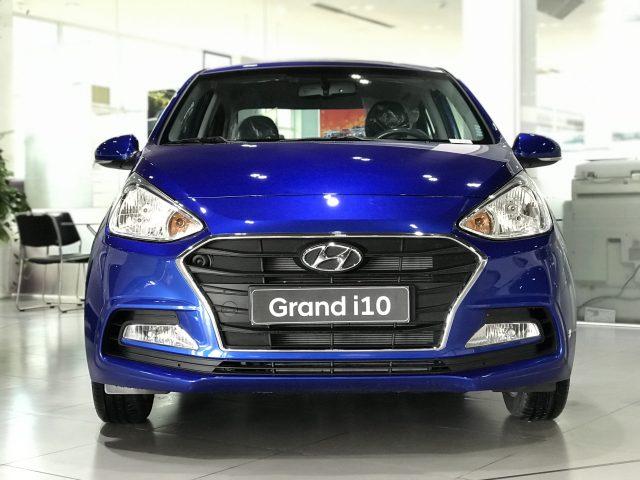 Xe Hyundai i10 sedan 4 cửa 202 1màu Xanh dương
