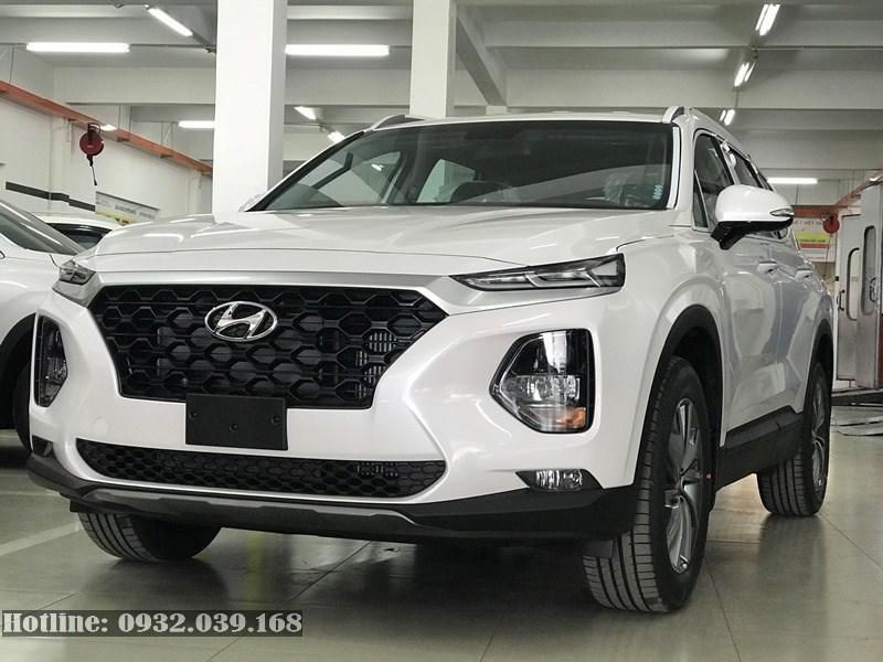 Hyundai Santafe máy xăng bản thường màu trắng