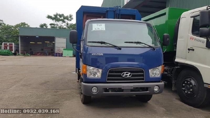 Xe tải cuốn ép chở rác 9 Khối Hyundai Mighty 110S